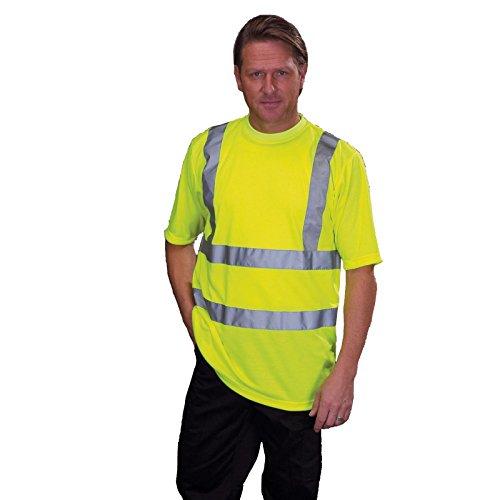 YOKO - T-shirt de sécurité EN 471 - Jaune fluo - HVJ410 - taille XXL - mixte homme/femme