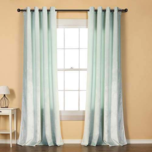 cortinas salon terciopelo verde