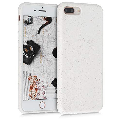 kalibri Cover Compatibile con Apple iPhone 7 Plus / 8 Plus - Custodia Cover in Silicone e Paglia - Backcover Matt Anti-Impronte - Bianco