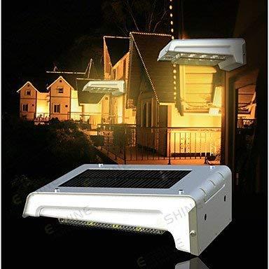 Led de luz Reino Unido ACMESHINE aluminio + ABS recargable solar al aire libre del sensor de movimiento de luz solar al aire libre pared (Sin batería) blanco caliente wzmdd (Color : Warm White)