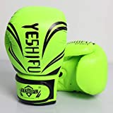 Guantes de boxeo universales for niños Lucha Guantes for niños Sanda Varios guantes (Color : GREEN, Size : 6oz)