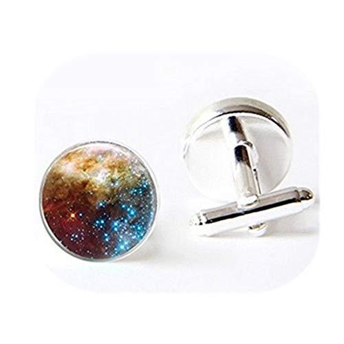 Galaxie spirale Boutons de manchette Nebula Outer Space Planet étoiles bleu astronomie Nebula Art manchette