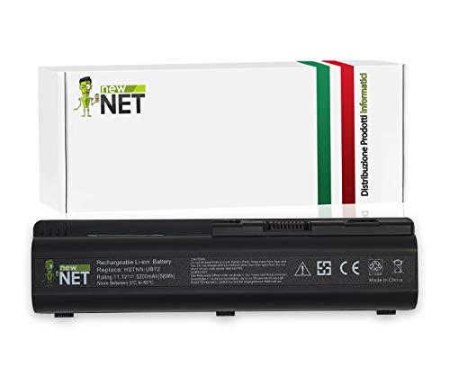 New Net - Batteria 5200mAh Compatibile con HP Pavilion DV6-1000 DV6-1345SL DV6-1350 DV6-1350EB DV6-1350EI DV6-1350EJ DV6-1350EL DV6-1350EM DV6-1350EP DV6-1350ET DV6-1350EX DV6-1350SL
