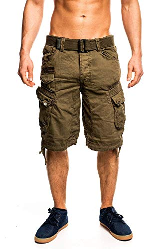 4C4 Geographical Norway People Herren Bermuda Shorts Kurze Hose Khaki XL