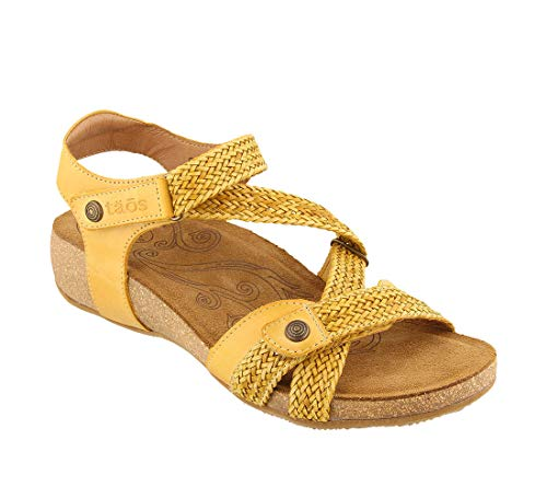 cute yellow leather sandals