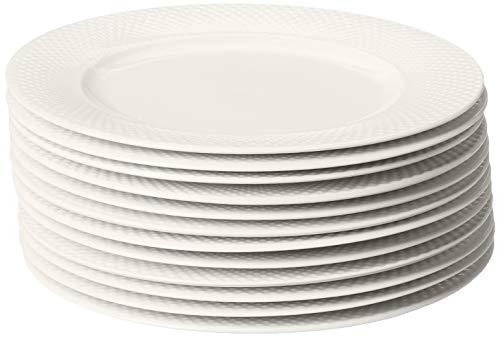 10 Strawberry Street Catering Dinner Plate, Cream White