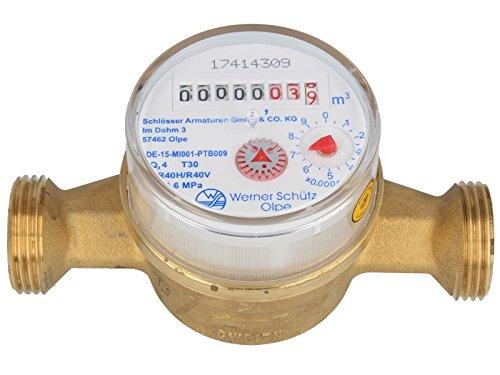 SCHÜTZ Einstrahlzähler ETK 3/4 - 130 mm - Q3=2,5 / R40