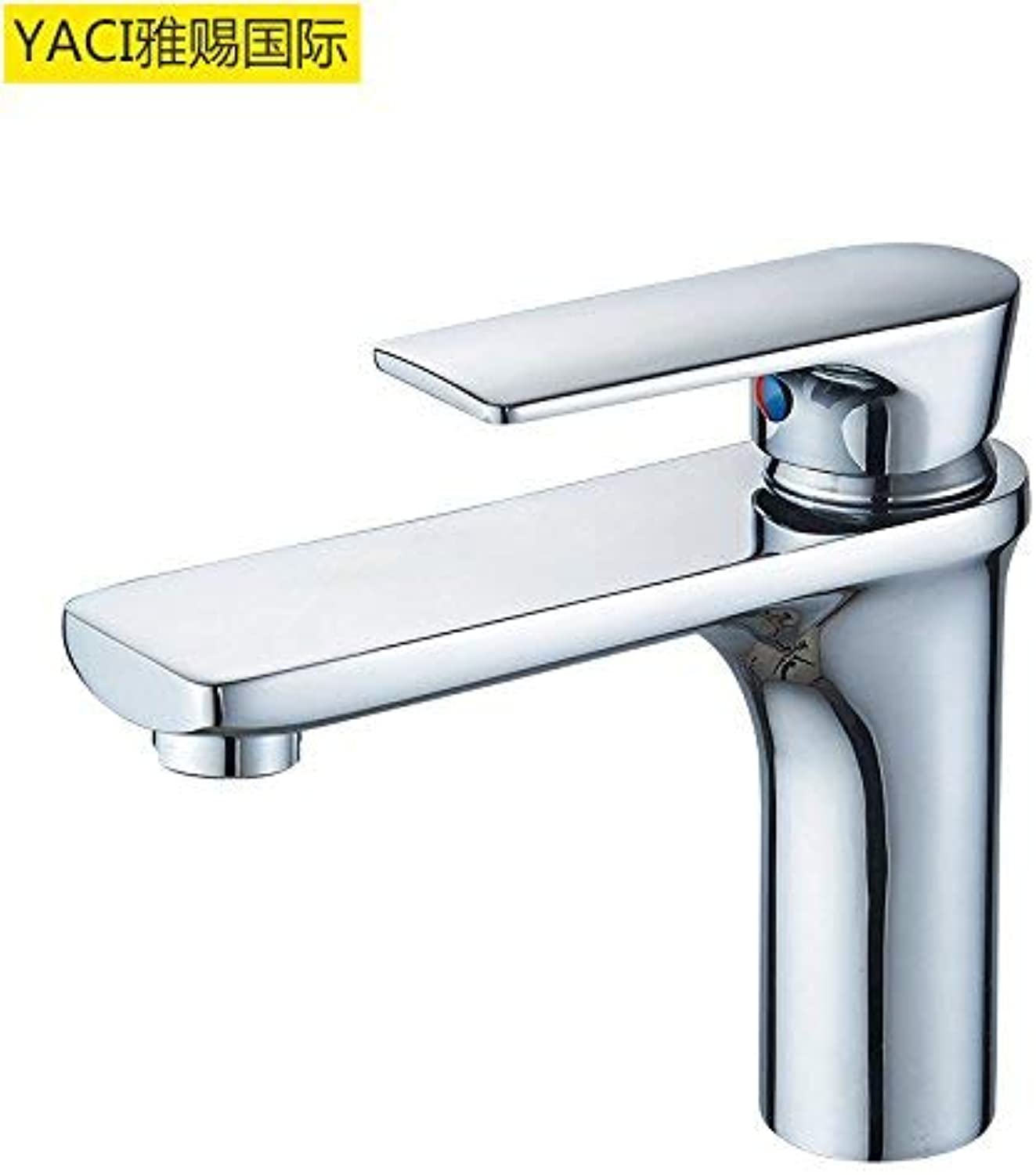 Modern copper faucet copper high faucet hot and cold water basin faucet 06 (color   Mp9005)