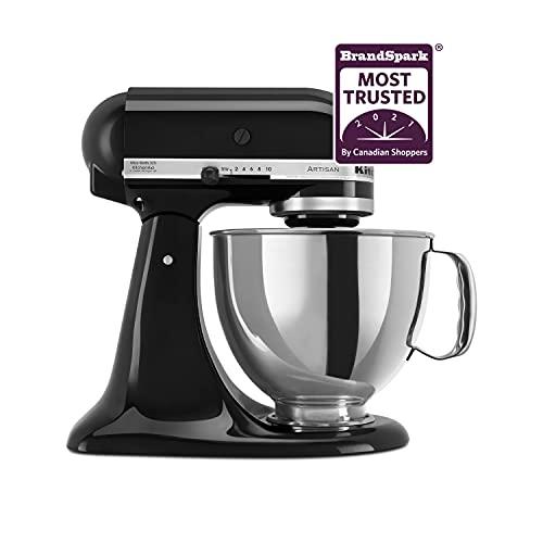 KitchenAid KSM150PSOB Artisan Series 5-Qt. Stand Mixer with Pouring Shield - Onyx Black