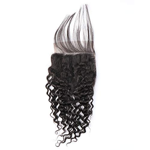 BLISSHAIR Kinky Curly Lace Closure 3 Part Virgin Brasilianisches Menschenhaa Water Wave 4