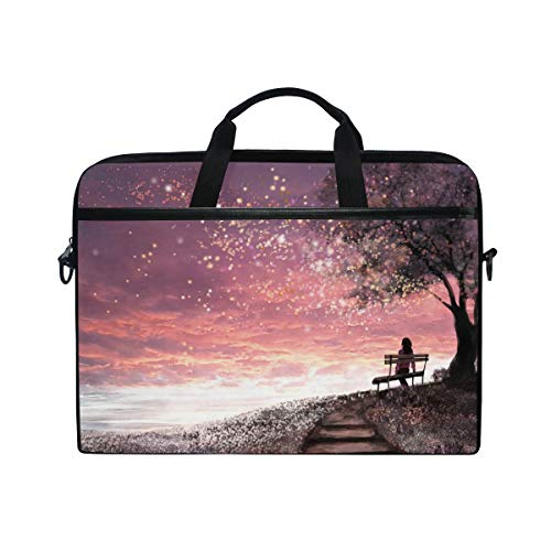 Chic Houses Girl Trees Laptop Bag Case for Men Women Romantic Fresh Computer Bag 2030197