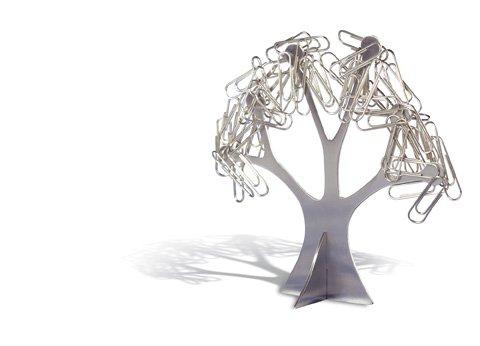 REFLECTS Büroklammernhalter Design Baum Bäumchen Büroklammernständer Metall Schreibtisch