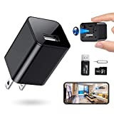 RXAMYDE New 2021 Hidden Camera Mini Spy Charger 1080P USB Motion Activated Camera Wide Viewing Angle 4K Hidden Spy Camera [Remote App Control] Home, Kids, Baby, Pet Monitoring Cam
