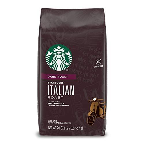 Starbucks Italian Roast Dark Roast Ground Coffee, 20 Ounce (Pack of 1) Bag