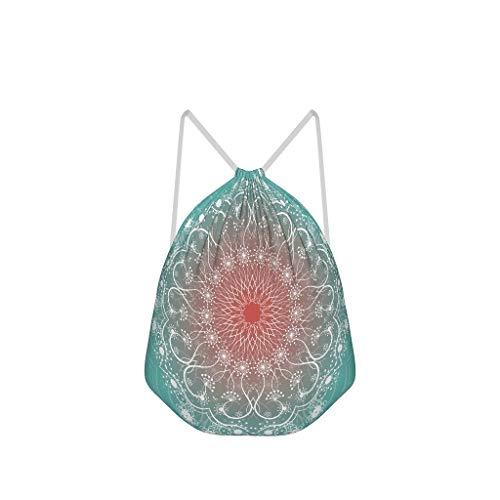 NC83 6 rode groene helling Mandela trekkoord tas niet te zien polyester sporttas yoga voor vrouwen 41 x 34 cm (aanpasbaar/groothandel) Eén maat wit