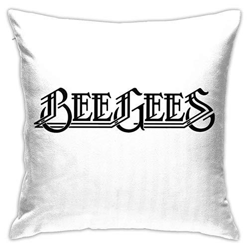 Con inserto de almohada Bee Gees Logo almohada hogar sofá cama cojín decorativo estándar cuadrado almohada cojín cojín cojín cojín cojín cojín cojín cojín almohada sofá decoración hogar
