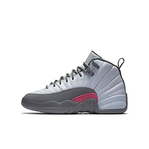 Nike Mädchen 510815-029 Basketballschuhe, Wolfgrau/lebhaftes Pink/kühles Grau, 38 EU