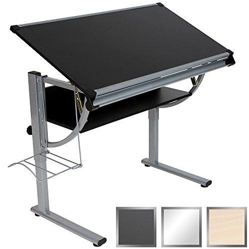 Mesa de Dibujo para Arte y Diseño - Tablero Reclinable 112x64cm, Bandeja y Soporte para Almacenaje, Color a Elegir - Escritorio Inclinable y Ajustable en Altura