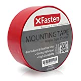 XFasten Acrylic Mounting Tape, 2-Inch x 450-Inch - Outdoor and Indoor Super Strong Double Sided Weatherproof Mounting Tape, Removable
