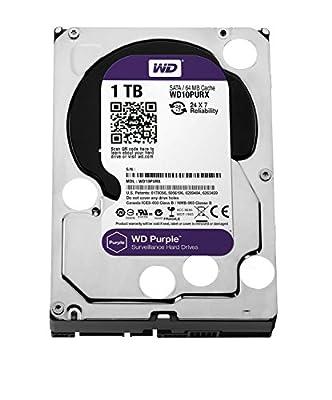 WD Purple 1TB Surveillance Hard Disk Drive - 5400 RPM Class SATA 6 Gb/s 64MB Cache 3.5 inch