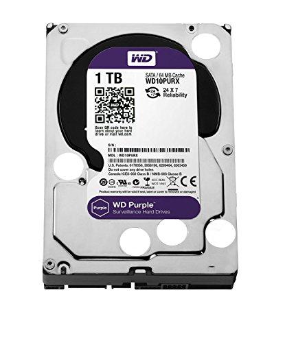 Western Digital Purple Desktop WD10PURX - Disque dur interne de bureau 3.5'' SATA III IntelliPower Mémoire cache 64 Mo 1 To oem