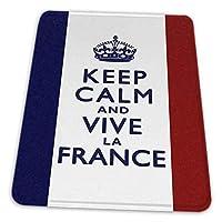 マウスパッド ゲーミングマウスパッド-落ち着いて生き続けるラ・フランスの旗アートプリント滑り止め デスクマット 水洗い 25x30cm