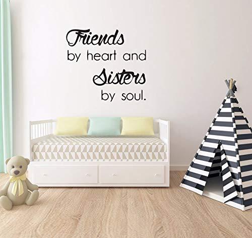 Autocollant mural avec citation « Friends » - Citation de frères et sœurs - Décoration murale pour chambre d'enfant