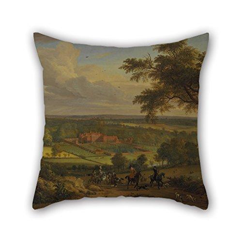 Bestseason 45 x 45 cm pintura al óleo Jan Wyck – Bifrons Park, Kent funda de almohada 2 lados es adecuado para banco Home Theater Festival Gril Friend Lounge