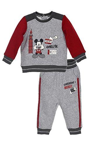 Disney Mickey Ensemble Jogging Survetement Bebe Garcon, Gris - 12 mois