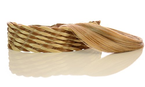 Bandeau Effet Maille Rotin Blond Caramel | Pack de 2 Bandeaux assortis: Un lisse caramel; Un effet maille rotin blond/caramel deux tons