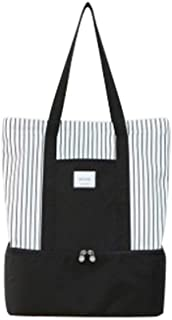 Others SQ-019 Insulation Bag Lunch Bag for Picnic Camping - Black, Medium
