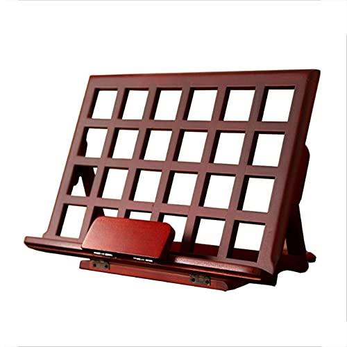 QIAOLI Estante de escalera clásico de madera soporte de lectura soporte de libros de escritorio marco de lectura para el hogar, oficina, sala de estar, dormitorio, estantería
