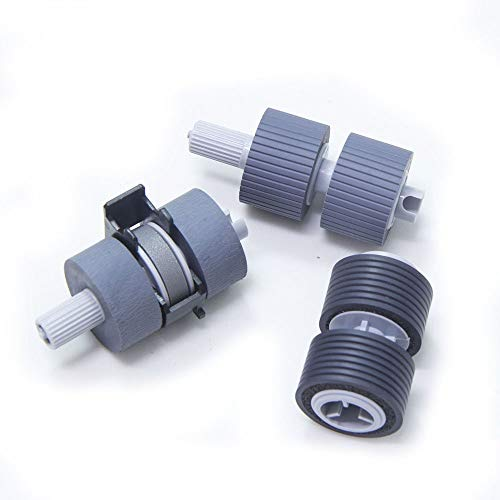 PA03338-K011 PA03576-K010 Scanner Brake and Pick Roller Set Compatible with Fujitsui Fi-6770 fi-6670 fi-6770A fi-5750C fi-5650C fi-5750 fi-5650 fi-6750 fi-6750S