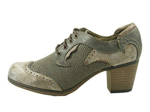 Mustang 1258-201 Schuhe Damen Pumps Schnürschuhe Hochfrontpumps, Schuhgröße:38;Farbe:Grau