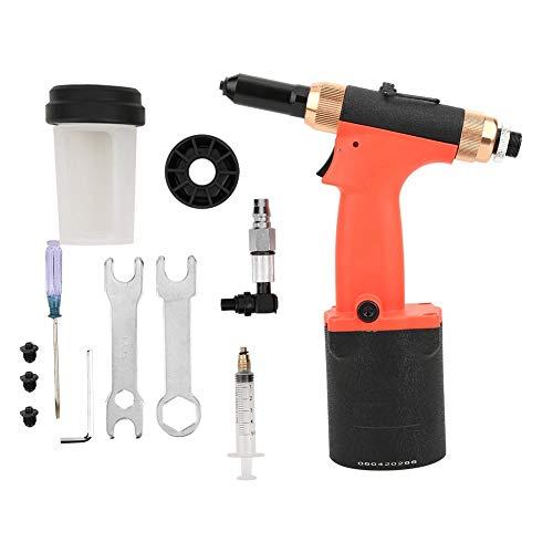 Pistola remachadora de aire, pistola remachadora hidráulica, remachadora neumática, herramienta automática de pistola de tuercas remachadora de aire de 2,4-4,8 mm para clavos de aluminio/clavos de h