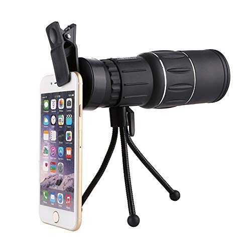 GuoYq High Definition Monocular, 16X52 High Definition Monocular Telescope Und Quick Smartphone Holder FüR Die Vogelbeobachtung Camping Reisen Wildlife