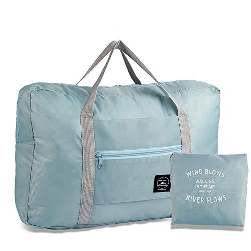 Rubywoo&chili Foldable Travel Duffel Bag, Waterproof Nylon Luggage Duffel Bag, Lightweight Travel Duffel Bag for Sport Gym Shopping Weekender Overnight Holiday