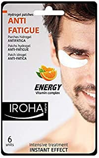 Iroha Nature - Parches Hidrogel para Ojos Antifatiga con Vitamina C para Hombres 6 unidades | Parches Hydrogel Antifati...