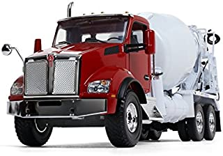 First Gear 1/34 Scale Diecast Collectible Red/White Kenworth T880 with McNeilus Standard Mixer (10-4130)