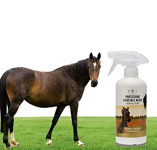 Spray Protezione Vegetale con Olio di Neem - Repellente Contro Zecche, Zanzare e Altri Parassiti, Prodotto Naturale per Cavalli, Linea 101 500 ml