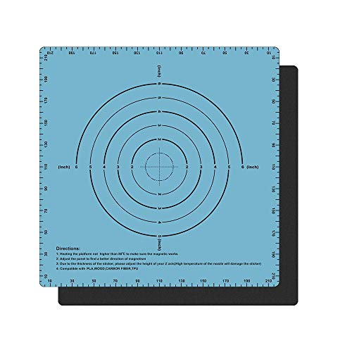Sooway Flex magnetico due strati stampa caldo letto adesivo costruire superficie nastro per piattaforma stampante 3D riscaldata Bed compatibile con Creality Ender 3 AnetA8(blu), 220x220mm