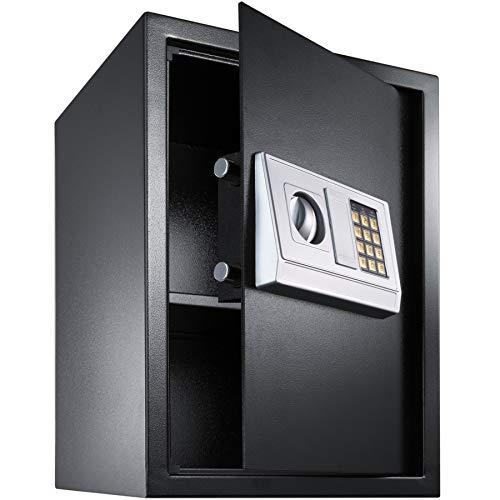 TecTake Caja Fuerte electrónica Pared Safe Caja de Seguridad Mini Hotel Seguro + Llave (50x35x34.5cm | No. 400566)