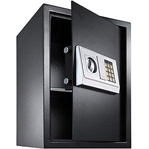 TecTake Caja Fuerte electrónica Pared Safe Caja de Seguridad Mini Hotel Seguro + Llave (50x35x34.5cm   No. 400566)