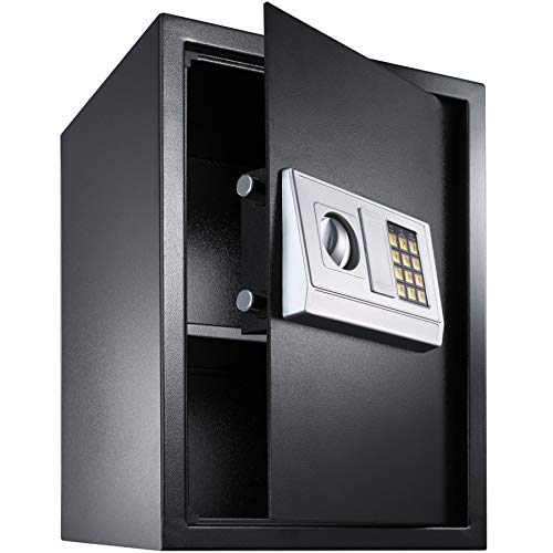 TecTake High Security Electronic Digital Home Safe incl. 4 Batteries -...
