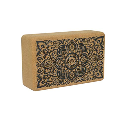 YOGA DESIGN LAB | The Cork Block | Eco Friendly Luxury | Superior Grip and Strength | Natural | Durable
