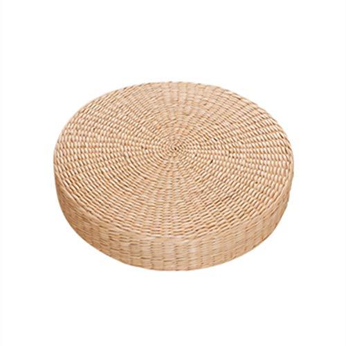 XJ&DD Pufs de ratán,Cojines futón,Mat de té para Aire Libre Meditación Cojín de Yoga Esteras.Espesor 6cm (2 Pulgadas)-A 40x40cm(16x16inch)