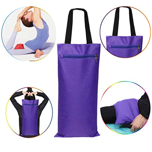 ZYX Gefüllt Gewicht Sand-Power-Tasche Krafttraining Fitness-Übungs-Kreuz-fit Sandsack Body Building Gym Sandbag, Indoor Yoga Fitness Boxsack,Lila