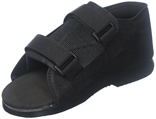 Medline Semi-Rigid Post-Op Shoes, Medium, Women, Black