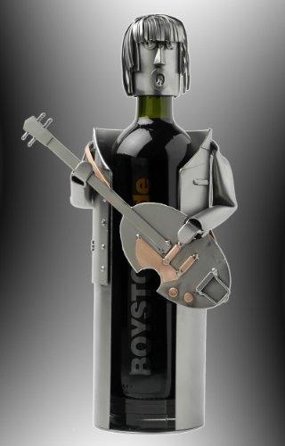 Boystoys HK Design Weinflaschenhalter Beatles-Gitarre - Metall Art Weinflaschen-Deko & Musikgeschenke - Original Schraubenmännchen Kollektion - handgefertigte Geschenkidee