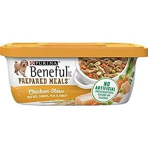Purina Beneful Gravy Wet Dog Food, Prepared Meals Chicken Stew – (8) 10 oz. Tubs